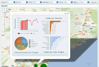 Dashboards integrados en Google Maps